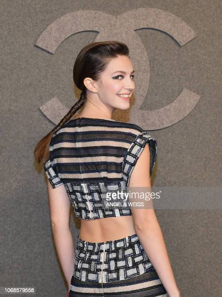 British actress Ella Hunt attends the Chanel Metiers D'Art 2018/19 Show at The Metropolitan Museum of Art on December 4 2018 in New York City