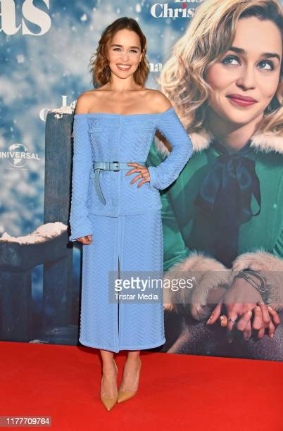 British actress Emilia Clarke attends the Last Christmas premiere at UCI Luxe movie theater on October 22 2019 in Berlin Germany