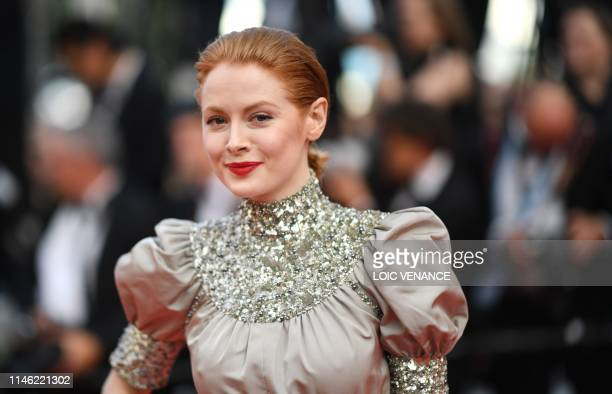 British actress Emily Beecham arrives for the screening of the film The Specials at the 72nd edition of the Cannes Film Festival in Cannes southern...