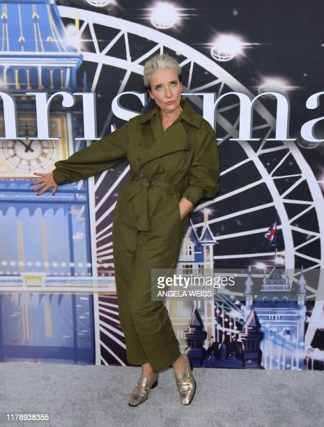 "British actress Emma Thompson attends the premiere of Universal Pictures' ""Last Christmas"" at AMC Lincoln Square on October 29, 2019 in New York City."