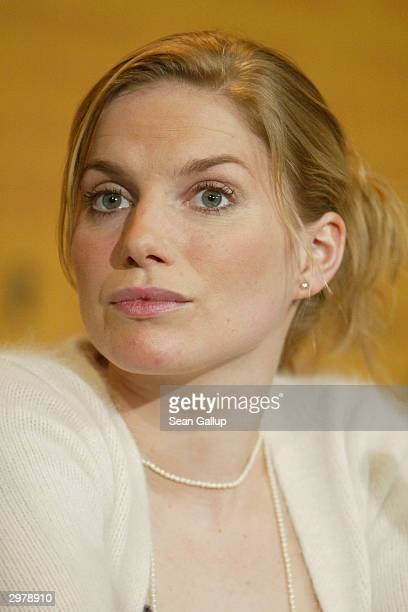 """British actress Eva Birthistle attends the news conference to """"Ae Fond Kiss"""" at the 54th annual Berlinale International Film Festival February 13,..."""