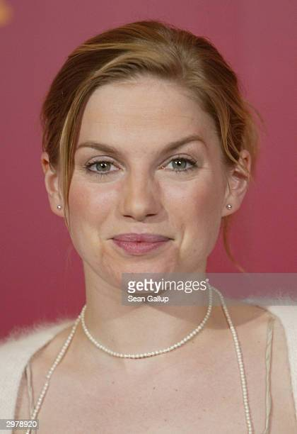 """British actress Eva Birthistle attends the photocall to """"Ae Fond Kiss"""" at the 54th annual Berlinale International Film Festival February 13, 2004 in..."""