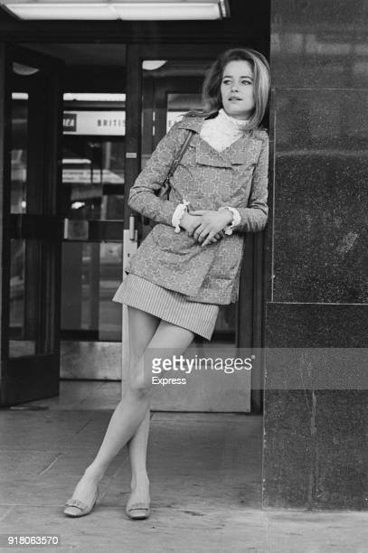 British actress fashion model and singer Charlotte Rampling at Heathrow Airport London UK 14th March 1968