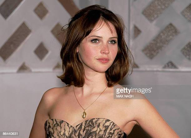 British actress Felicility Jones arrives at the British Premiere of her latest film ' Cheri' at the French Institute Central London on May 6 2009 AFP...