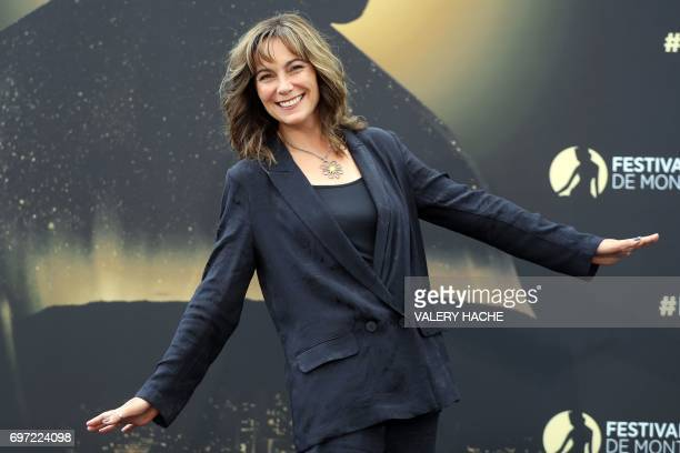 """British actress Fiona Dolman poses during a photocall for the TV show """"Midsomer murders"""" as part of the 57th Monte-Carlo Television Festival on June..."""