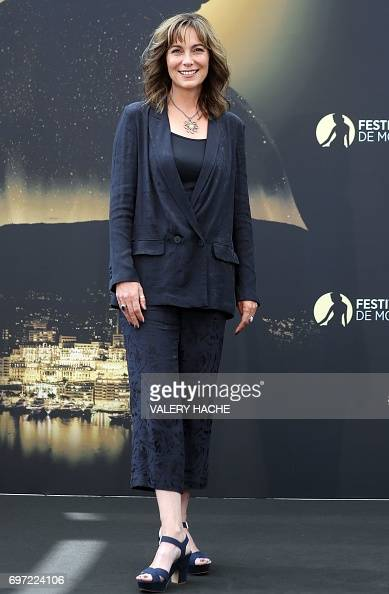 British actress Fiona Dolman poses during a photocall for
