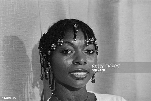 "British actress Floella Benjamin, Baroness Benjamin, attends a press conference for the film ""Black Joy"", story of an immigrant country boy in..."