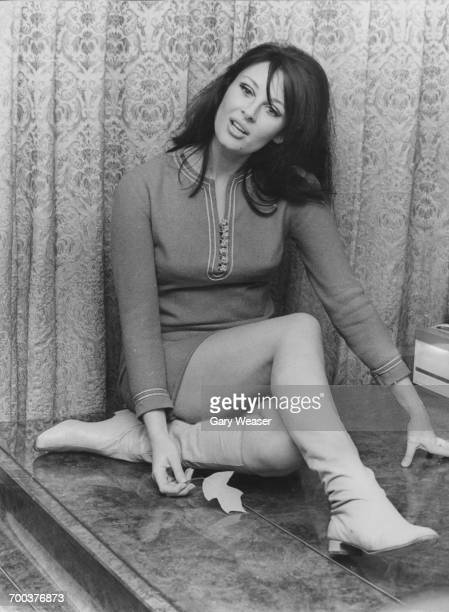 British actress Gabriella Licudi at her London flat 21st November 1966 She is about to fly to Nairobi to film 'The Last Safari' with director Henry...