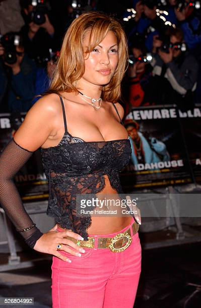 British actress Gabrielle Richens attends the premiere of the movie 'Ali G Indahouse' in London