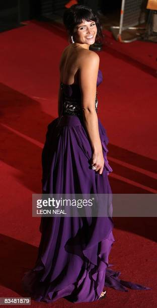 """British actress Gemma Arterton arrives at the world premiere of the new James Bond film """"Quantum of Solace"""" at the Odeon cinema in Leicester Sqaure..."""