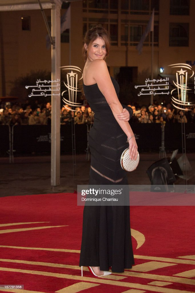 British actress Gemma Arterton arrives for the tribute to Hindi cinema at the 12th Marrakech International Film Festival on November 30,Marrakech International 12th Film Festival on December 1, 2012 in Marrakech, Morocco.