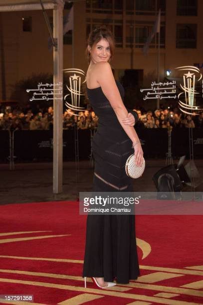 British actress Gemma Arterton arrives for the tribute to Hindi cinema at the 12th Marrakech International Film Festival on November 30,Marrakech...