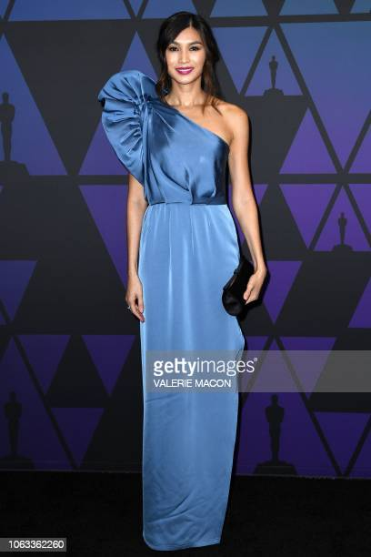 British actress Gemma Chan attends the 10th Annual Governors Awards gala hosted by the Academy of Motion Picture Arts and Sciences at the the Dolby...