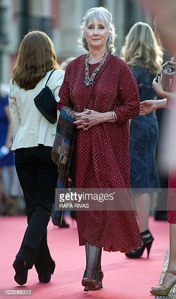 British actress Gemma Jones arrives on the red carpet at the premiere of Woody Allen's latest film �You Will Meet a Tall Dark Stranger� on August 24...