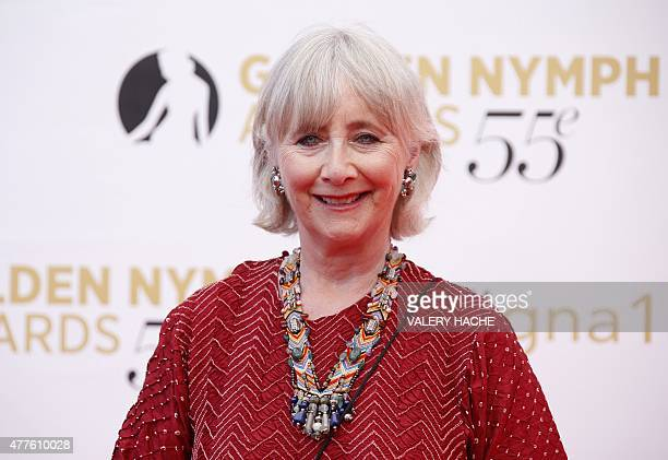British actress Gemma Jones poses during the closing ceremony of the 55th MonteCarlo Television Festival on June 18 in Monaco AFP PHOTO / VALERY HACHE