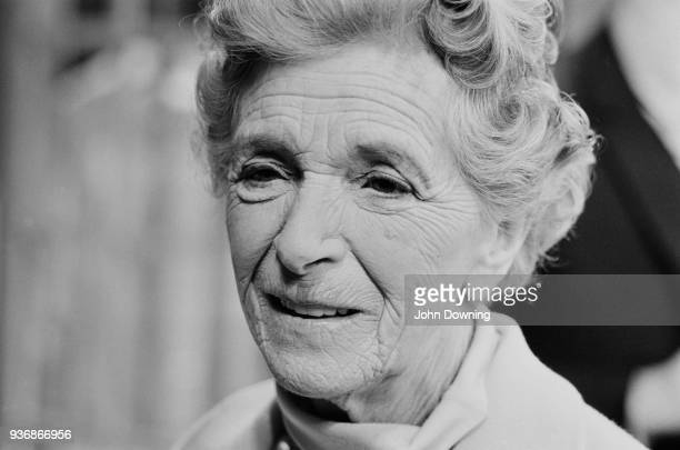 British actress Gladys Cooper celebrating her 80th birthday at St Matins Theatre London UK 18th December 1968