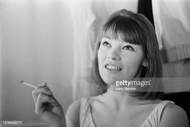 British actress Glenda Jackson at the Martin Beck Theatre on Broadway, New York City, where she is is appearing as Charlotte Corday in the Peter...