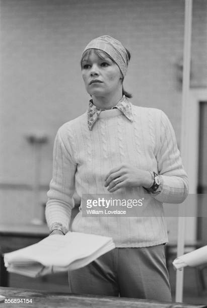 British actress Glenda Jackson during rehearsals 30th December 1970