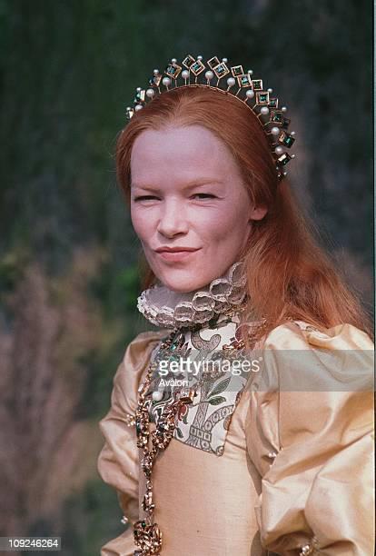 British Actress Glenda Jackson In costume as Queen Elizabeth I for the television series Elizabeth R