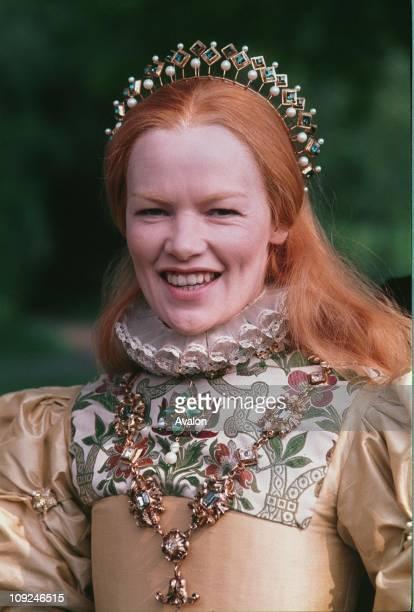 British Actress Glenda Jackson In costume as Queen Elizabeth I for the television series Elizabeth R, .