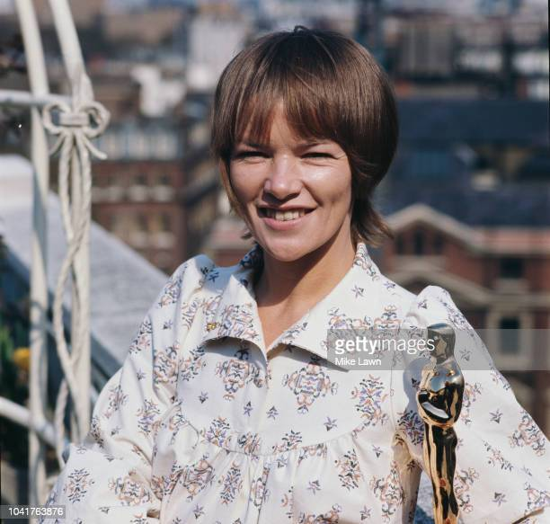 British actress Glenda Jackson with her Academy Award for Best Actress for her role in the film 'Women in Love' May 1971