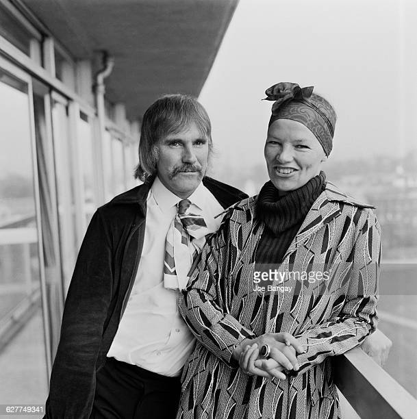 British actress Glenda Jackson with her husband Roy Hodges UK 16th April 1971 She had just been awarded an Academy Award for her role as Gudrun in...