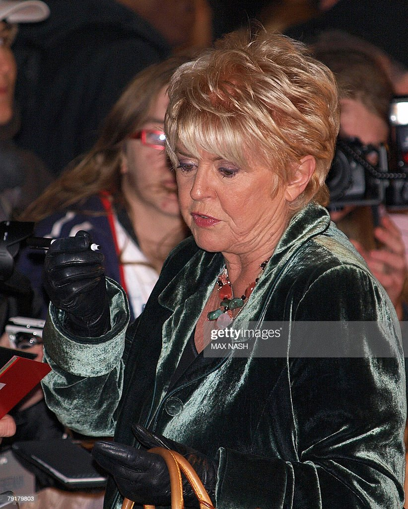 British actress Gloria Hunniford signs autographs as she arrives at London's Leicester Square, 23 January 2008, to attend the British Premiere of the film 'The Bucket List' directed by Rob Reiner. AFP Photo / Max Nash