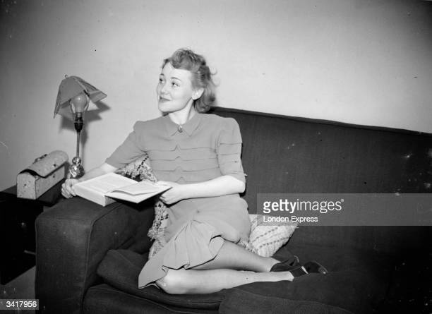 British actress Glynis Johns who is to star in a Ministry of Information film.