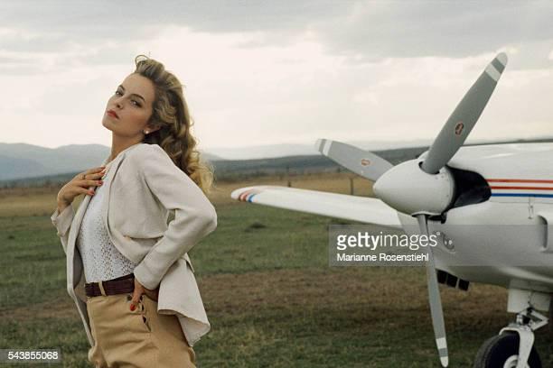 British actress Greta Scacchi on the set of White Mischief by British director screenwriter actor and producer Michael Radford