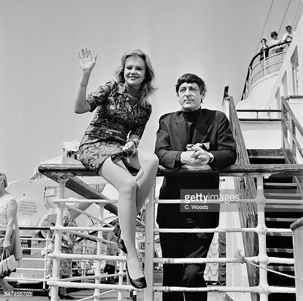 British actress Hayley Mills and film director Roy Boulting leave Southampton on the RMS Queen Mary bound for New York City 15th June 1967