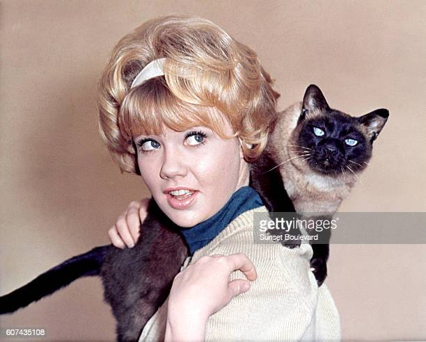 British actress Hayley Mills on the set of That Darn Cat directed by Robert Stevenson