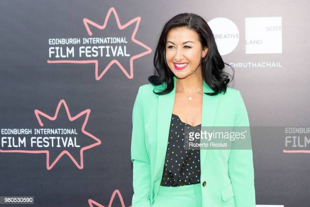 British actress Hayley Tamaddon attends a photocall for the World Premiere of 'Eaten by Lions' during the 72nd Edinburgh International Film Festival...