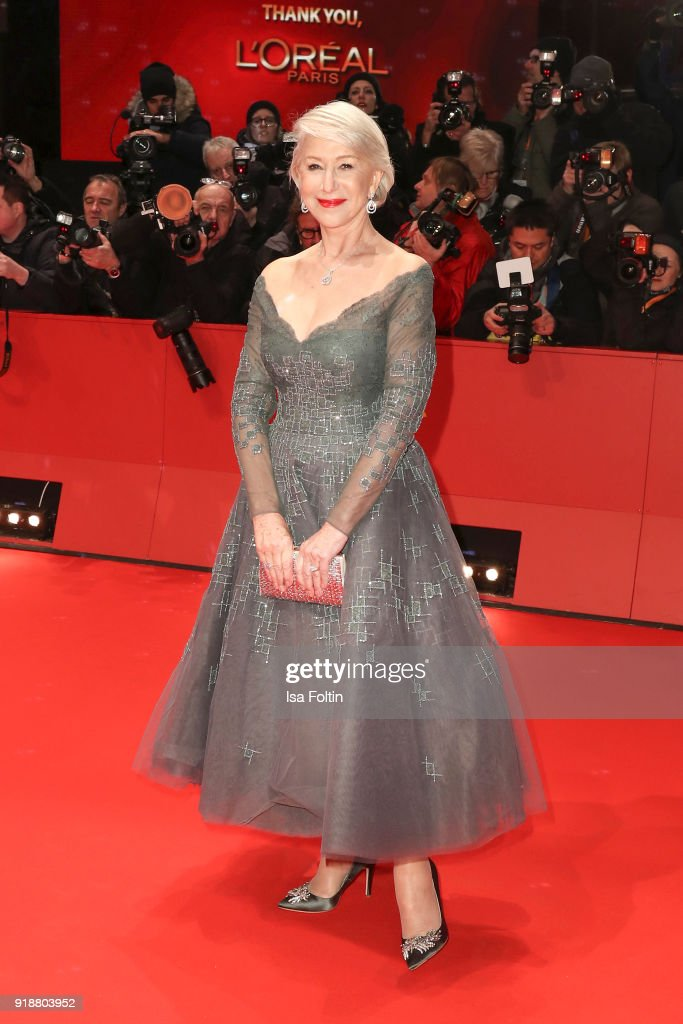 British actress Helen Mirren attends the Opening Ceremony & 'Isle of Dogs' premiere during the 68th Berlinale International Film Festival Berlin at Berlinale Palace on February 15, 2018 in Berlin, Germany.