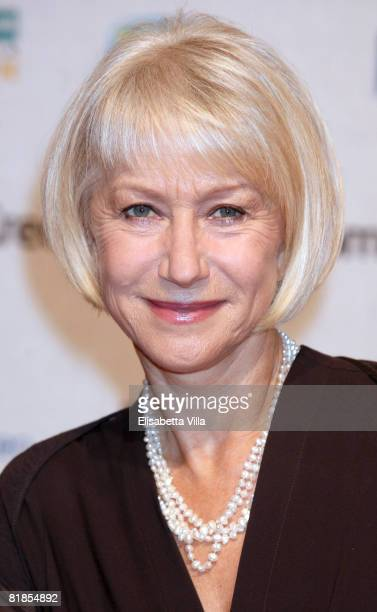 British actress Helen Mirren attends the second day of Roma Fiction Fest 2008 on July 8 2008 in Rome Italy