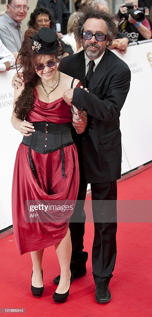 British actress Helena Bonham Carter (L) and US film director Tim Burton pose as they arrive at The Philips British Academy Television Awards held at The Palladium on June 6, 2010 in London, England.