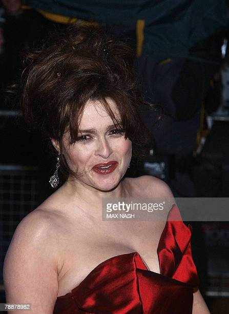 British actress Helena Bonham Carter arrives at London's Leicester Square for the European Premiere of her latest film, Sweeney Todd, 10 January...