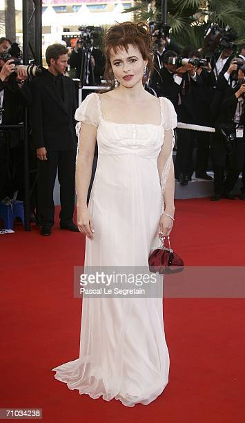 British actress Helena Bonham Carter attends the 'Marie Antoinette' premiere at the Palais des Festivals during the 59th International Cannes Film...