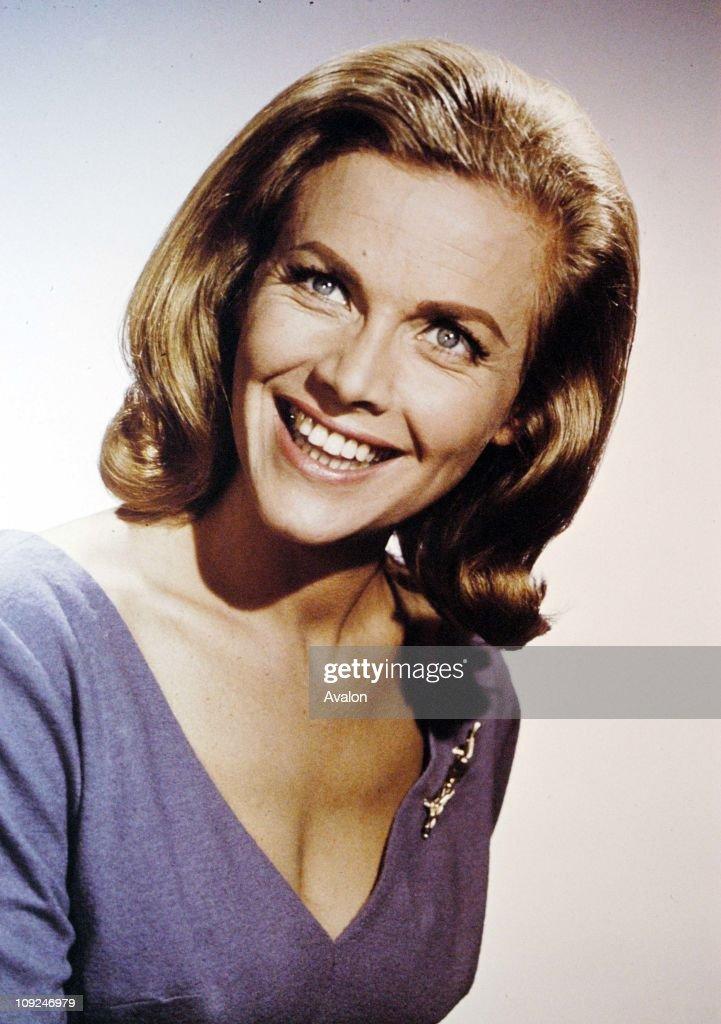 British Actress Honor Blackman.