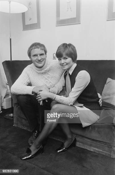 British actress Isla Blair with her fiance, British actor Julian Glover, UK, 26th September 1968.