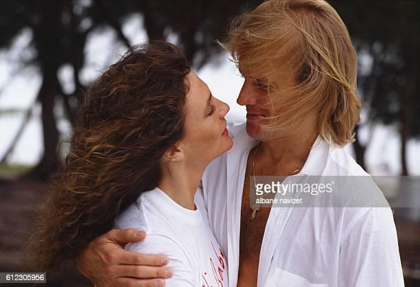British actress Jacqueline Bisset with her partner, Russian-American ballet dancer and actor Alexander Godunov.