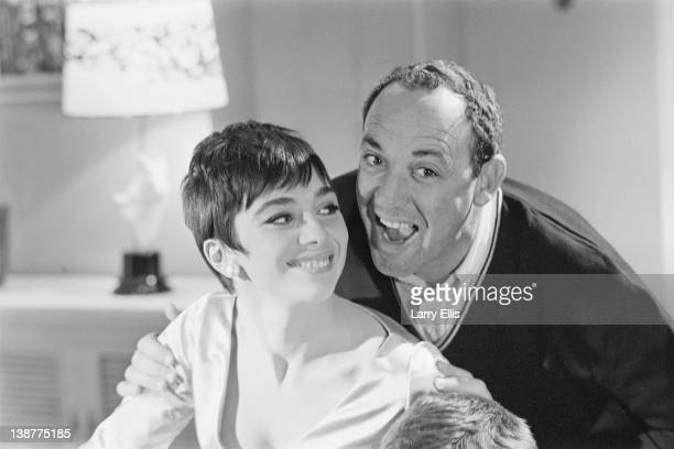 British actress Jacqueline Pearce and director Jerry Paris filming the comedy 'Don't Raise The Bridge Lower The River' at Shepperton Studios 17th May...