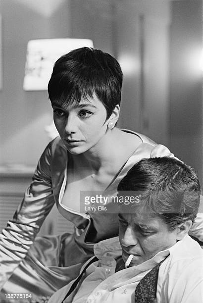 British actress Jacqueline Pearce and Jerry Lewis filming the Jerry Paris comedy 'Don't Raise The Bridge Lower The River' at Shepperton Studios 17th...