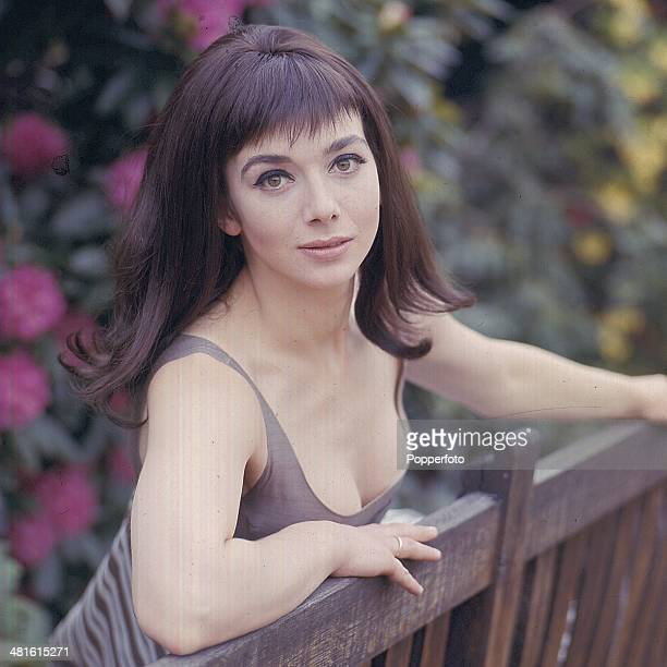 1968 British actress Jacqueline Pearce posed on the set of the television series 'Haunted I Like it Here' in 1968