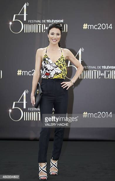 British actress Jaime Murray poses during a photocall for the TV show Defiance as part of the 54nd MonteCarlo Television Festival on June 9 2014 in...