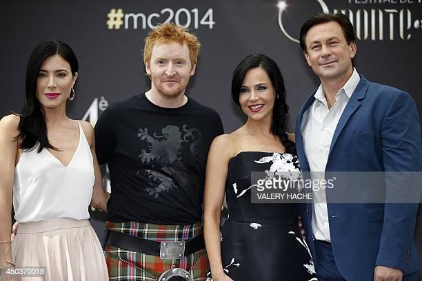 British actress Jaime Murray, Scottish actor Tony Curran, US actress Julie Benz and US actor Grant Bowler pose during a photocall for the TV show...