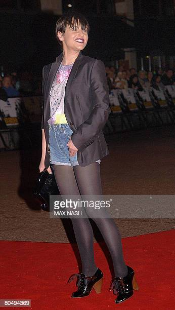 British actress Jaime Winstone arrives for the British Premiere of 'Shine A Light' in London's Leicester Square on April 2 2008 The film by Martin...