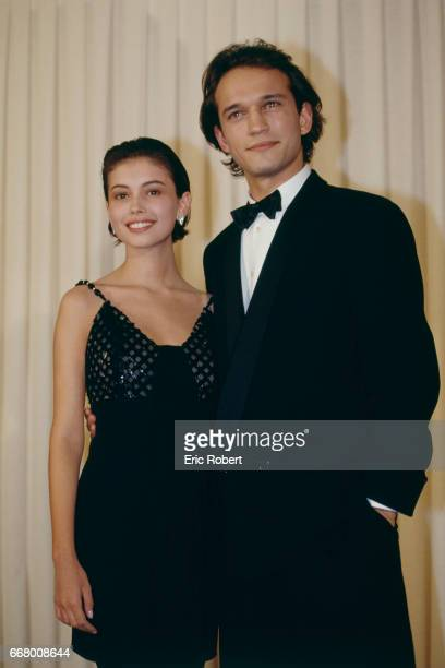 British actress Jane March and Swiss actor Vincent Perez attend the 17th Cesar Awards ceremony.