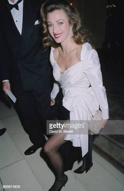 British actress Jane Seymour at the Ritz Hotel in London, 27th March 1990.