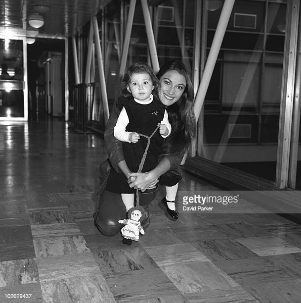 British actress Jane Seymour with her daughter Katherine on January 08 1984