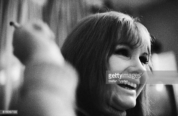 British actress Jennie Linden on the set of 'Women in Love' a film adaptation of the D H Lawrence novel directed by Ken Russell November 1968